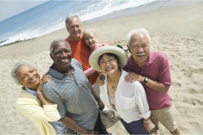 group of elderly seniors